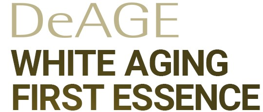 DeAge White Aging First Essence text